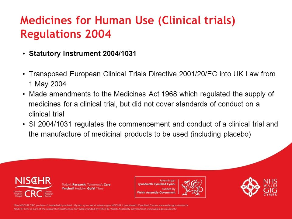 Medicines for Human Use (Clinical trials) Regulations 2004
