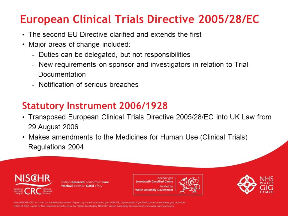 European Clinical Trials Directive 2005/28/EC