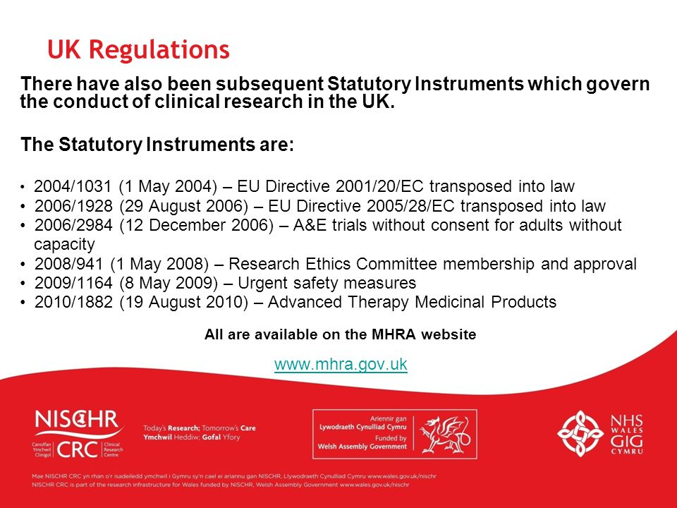 All are available on the MHRA website