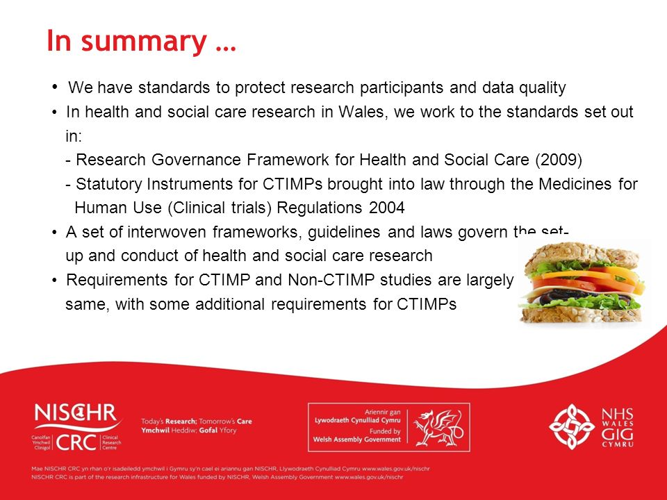 In summary … We have standards to protect research participants and data quality.