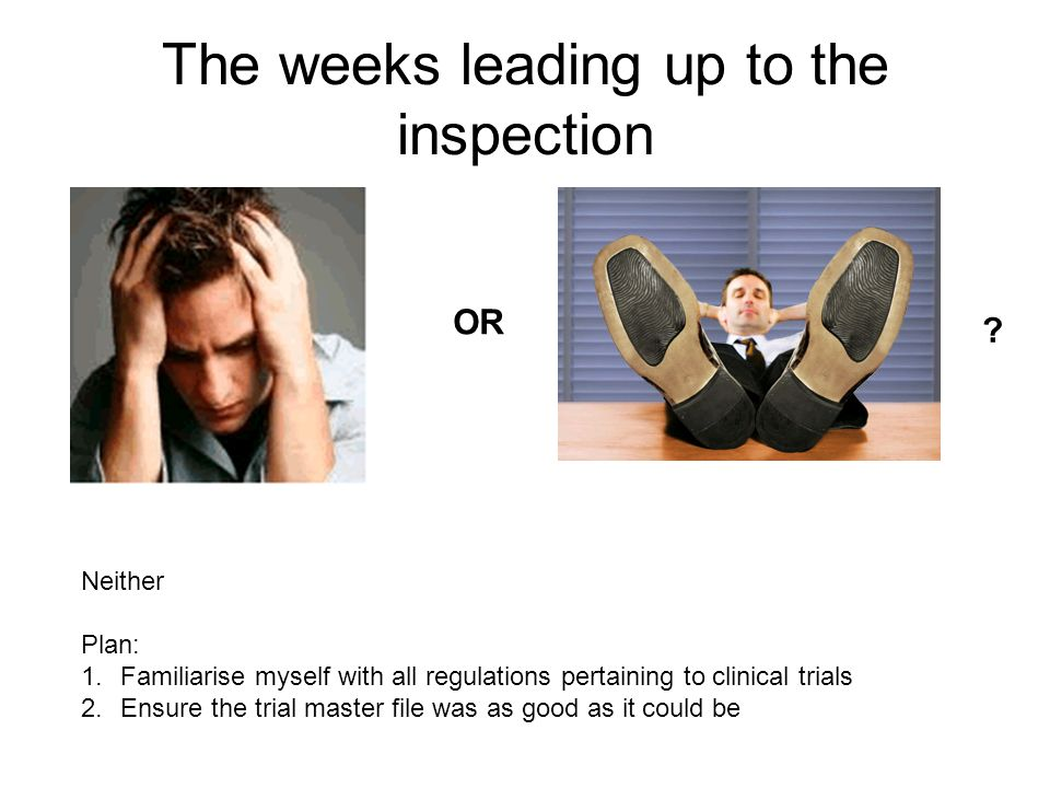 The weeks leading up to the inspection