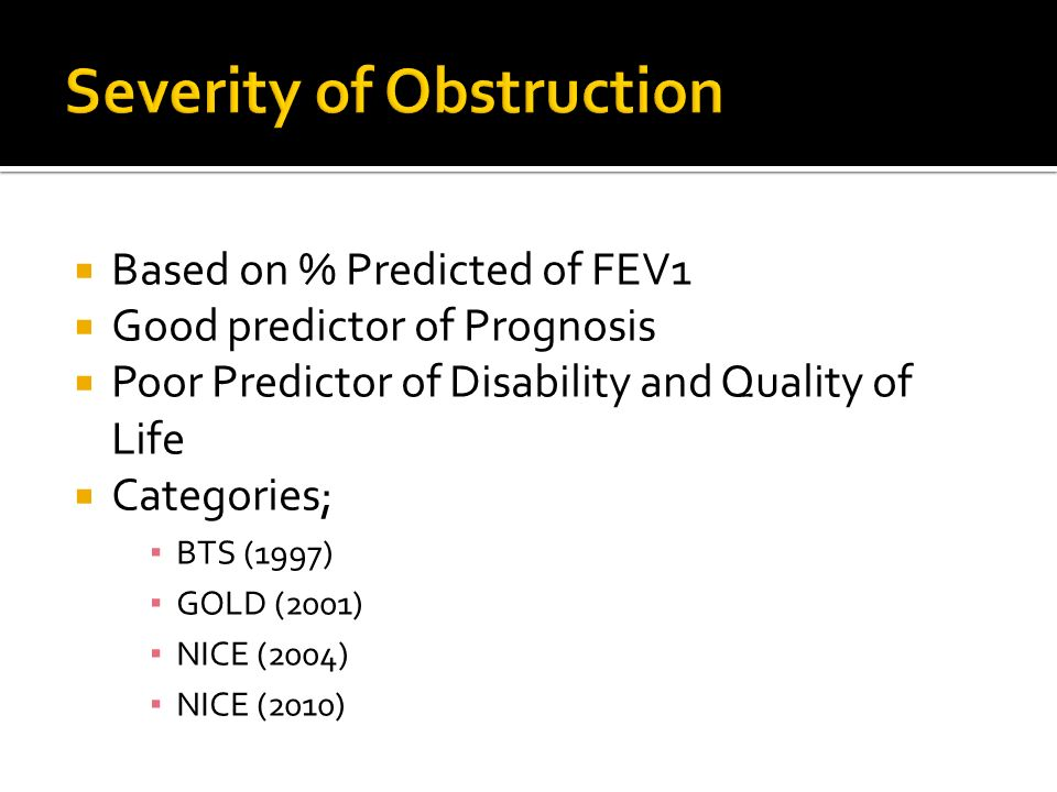 Severity of Obstruction