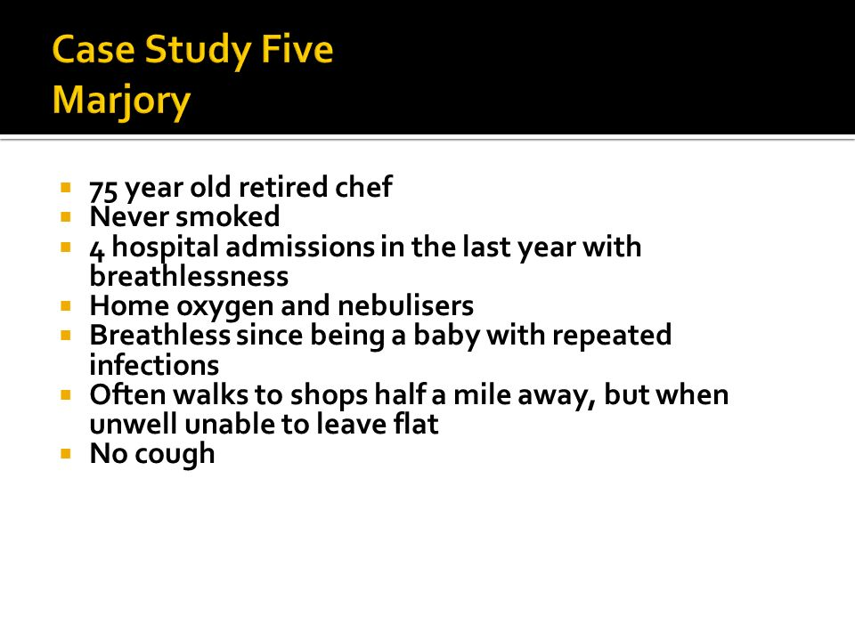 Case Study Five Marjory