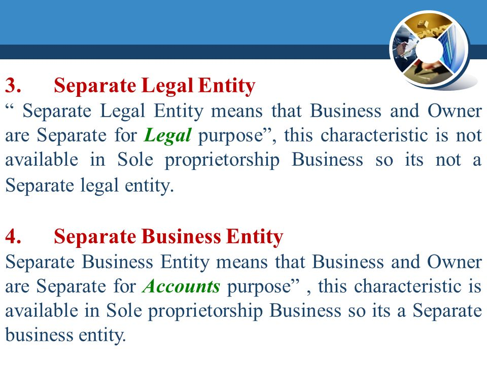 separate legal entity definition
