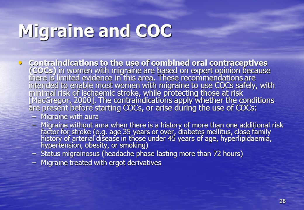 Migraine and COC