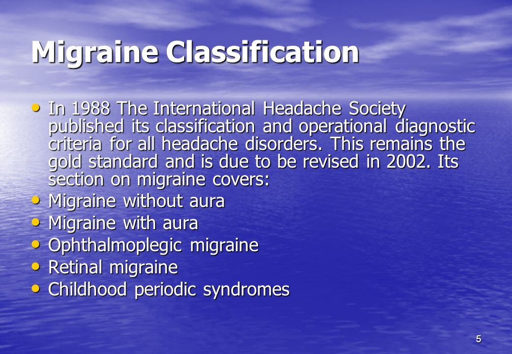 Migraine Classification