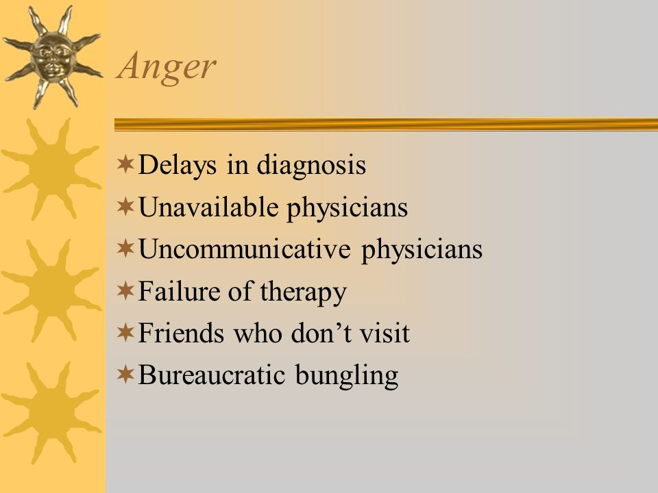 Anger Delays in diagnosis Unavailable physicians