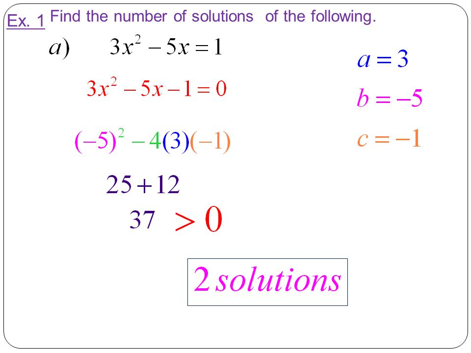 Find the number of solutions of the following.