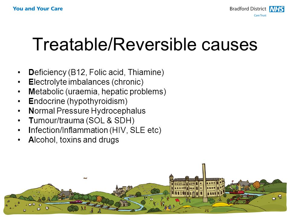 Treatable/Reversible causes