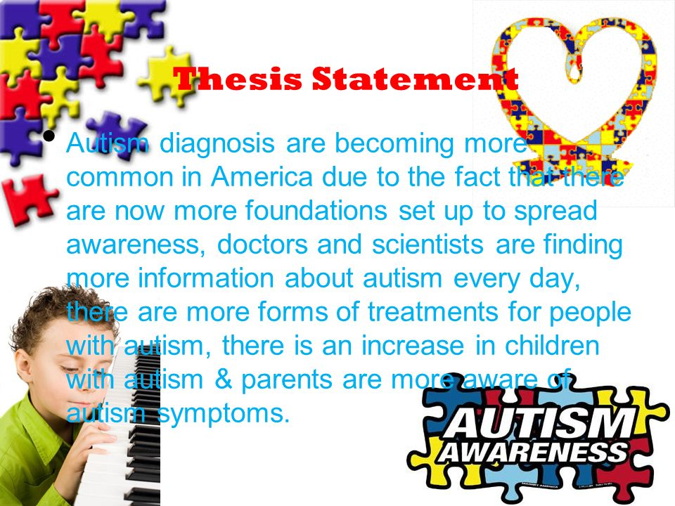 autism thesis statement