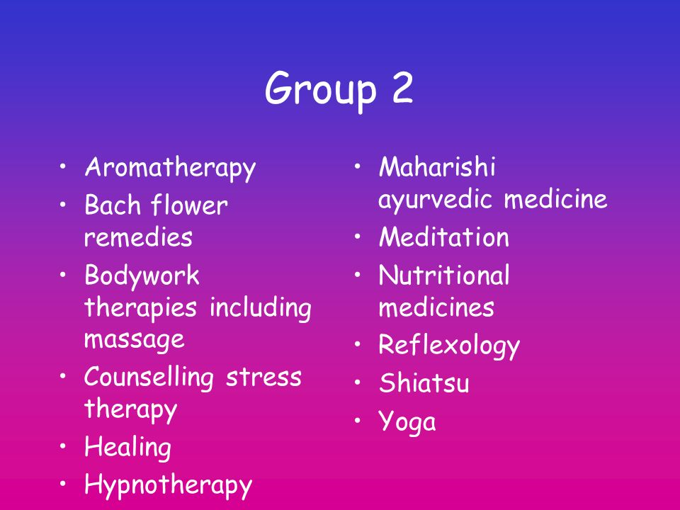 Group 2 Aromatherapy Bach flower remedies