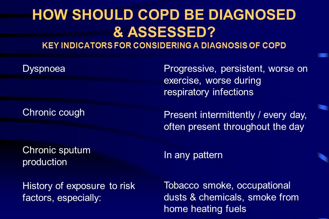 HOW SHOULD COPD BE DIAGNOSED & ASSESSED