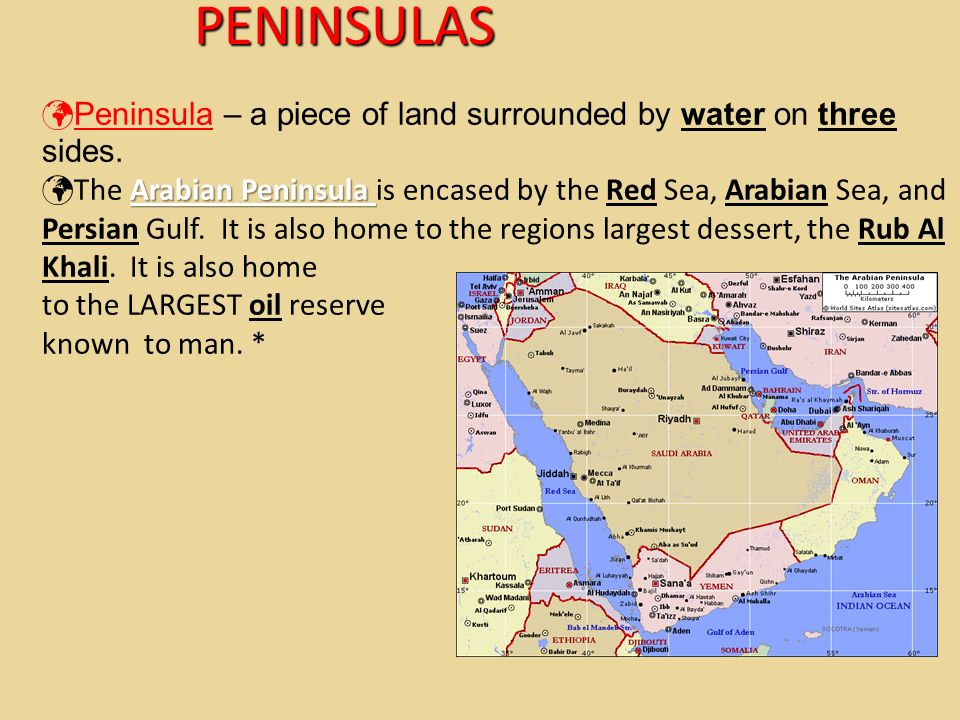 Middle East Map Arabian Peninsula.Geography Origins Of The Middle East Ppt Video Online Download