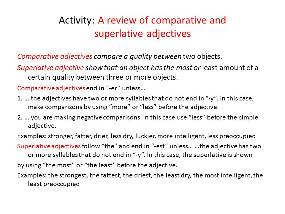 sample paragraph with adjectives