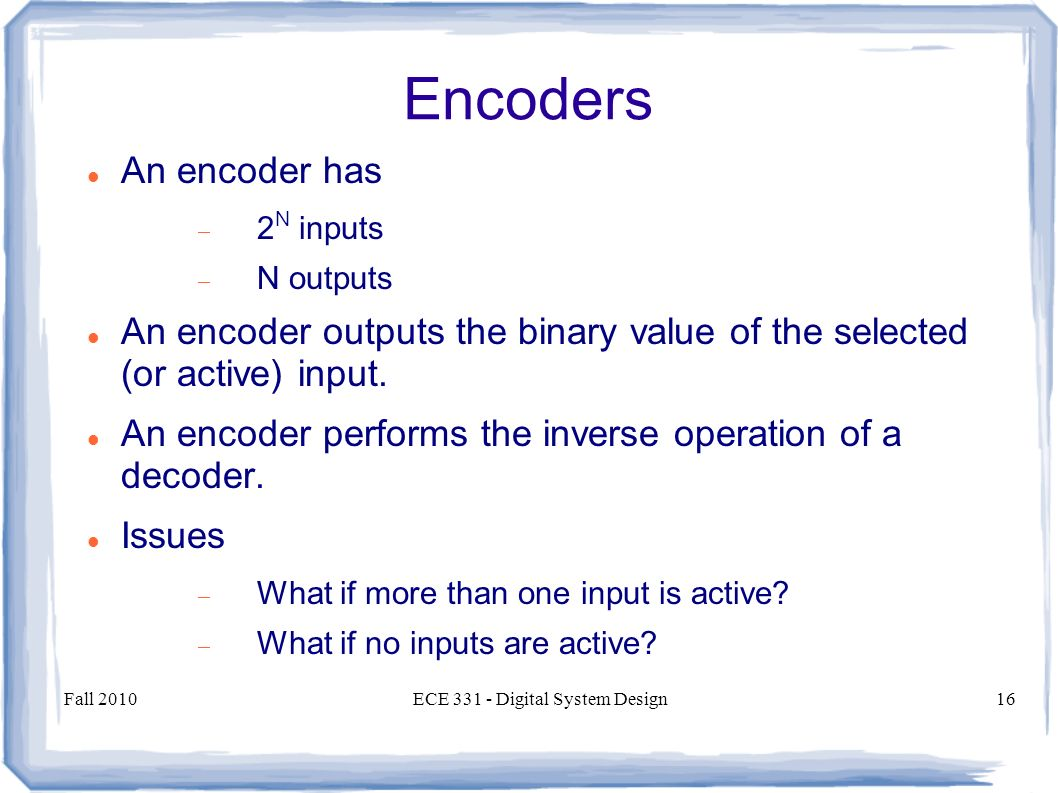 Multiplexers And Demultiplexers Encoders Decoders Ppt Decoder Encoder Logic Circuits 16 Ece