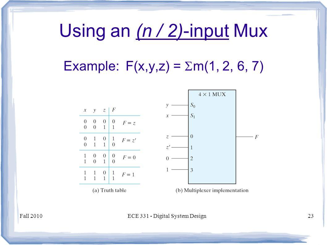 Multiplexers And Demultiplexers Encoders Decoders Ppt Logic Diagram Multiplexer 23 Using