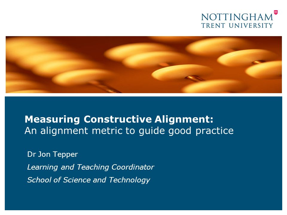 2nd UK Workshop on Constructive Alignment