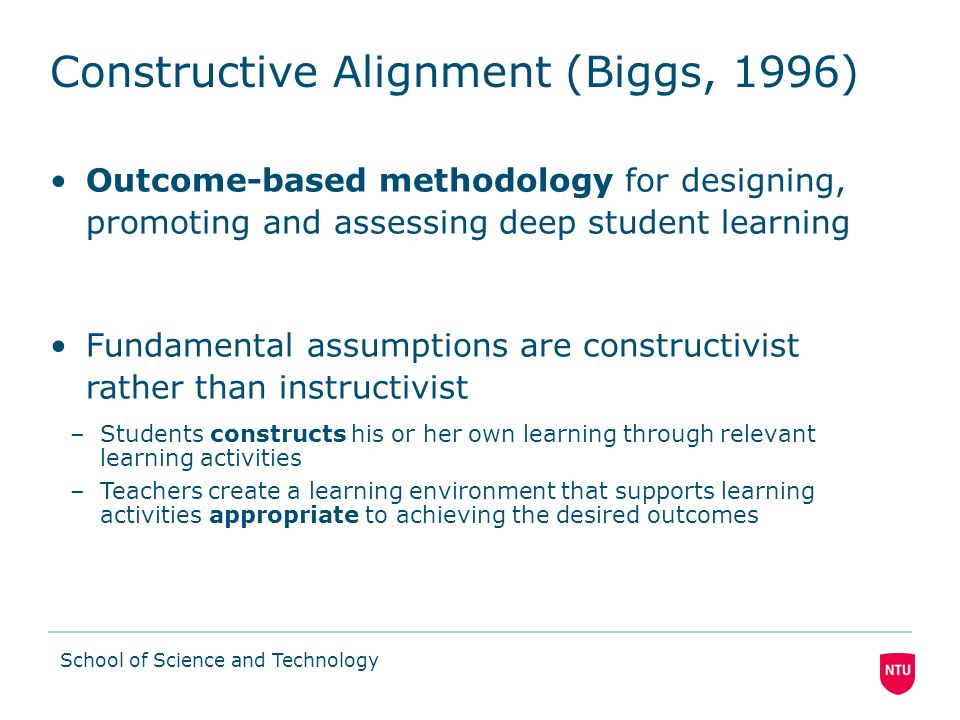 Constructive Alignment (Biggs, 1996)