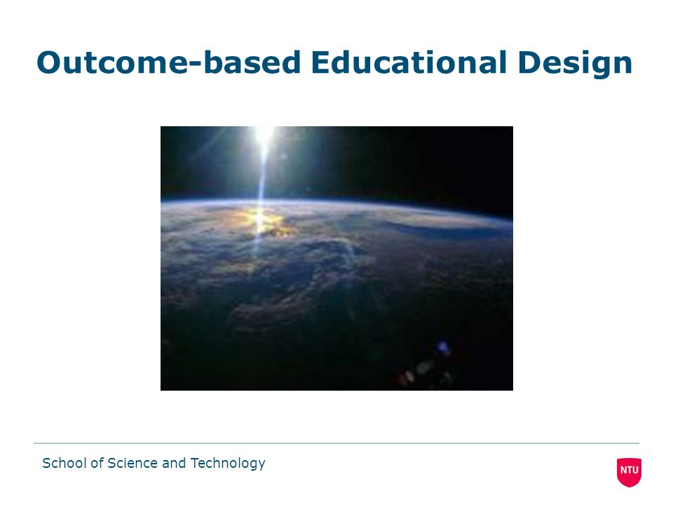 Outcome-based Educational Design