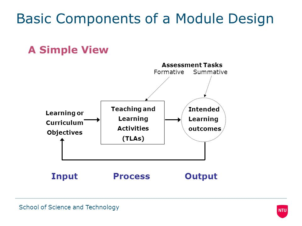 Basic Components of a Module Design