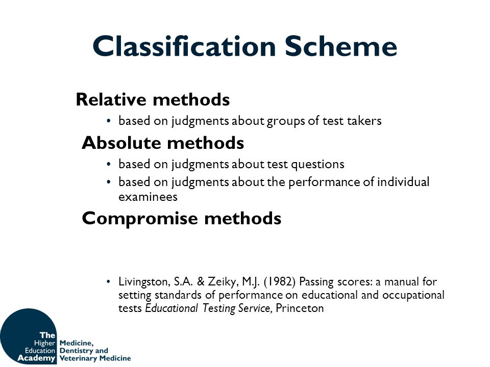 Classification Scheme
