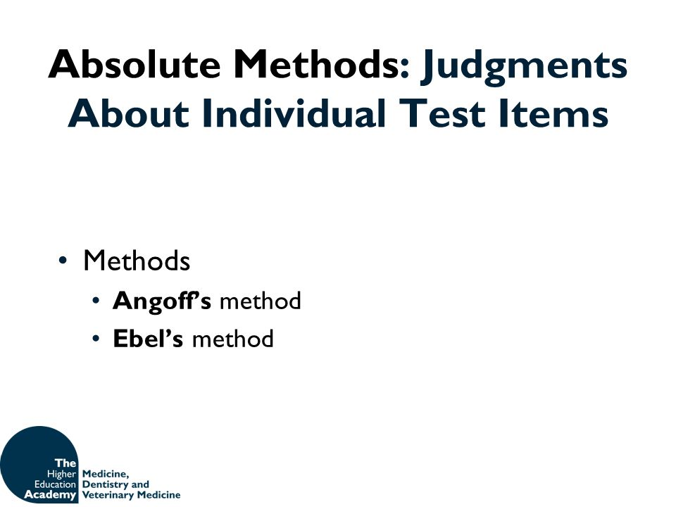 Absolute Methods: Judgments About Individual Test Items