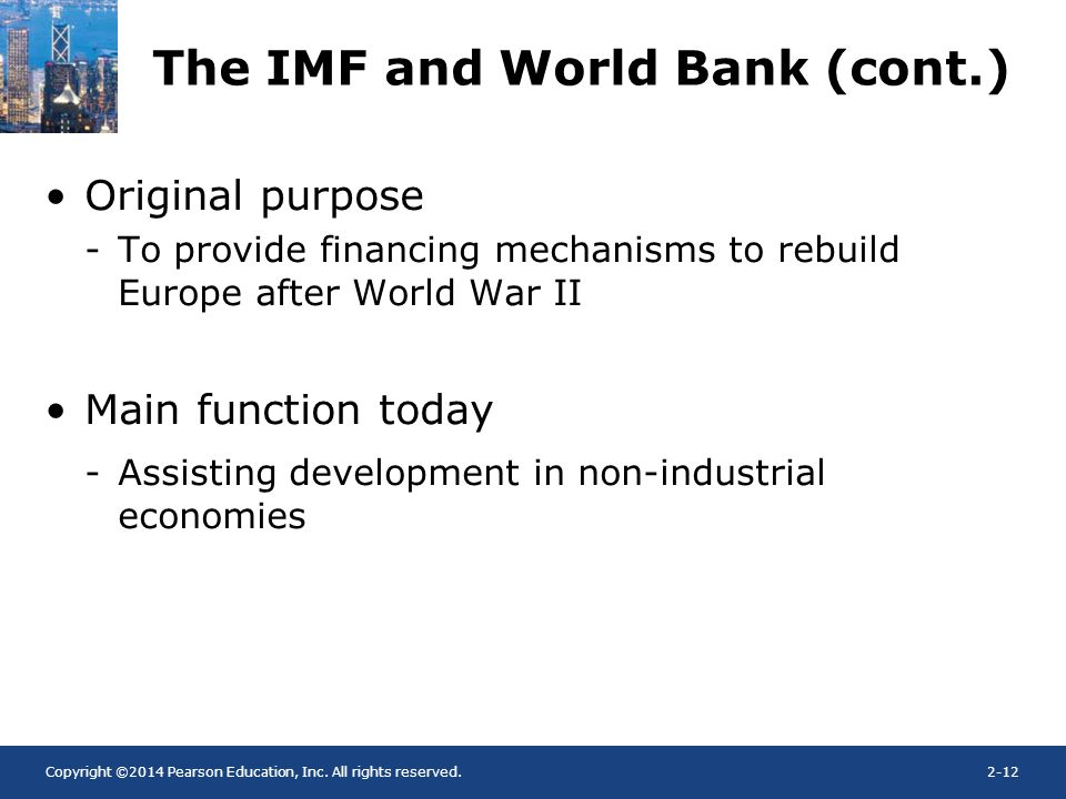 what is the main function of the world bank