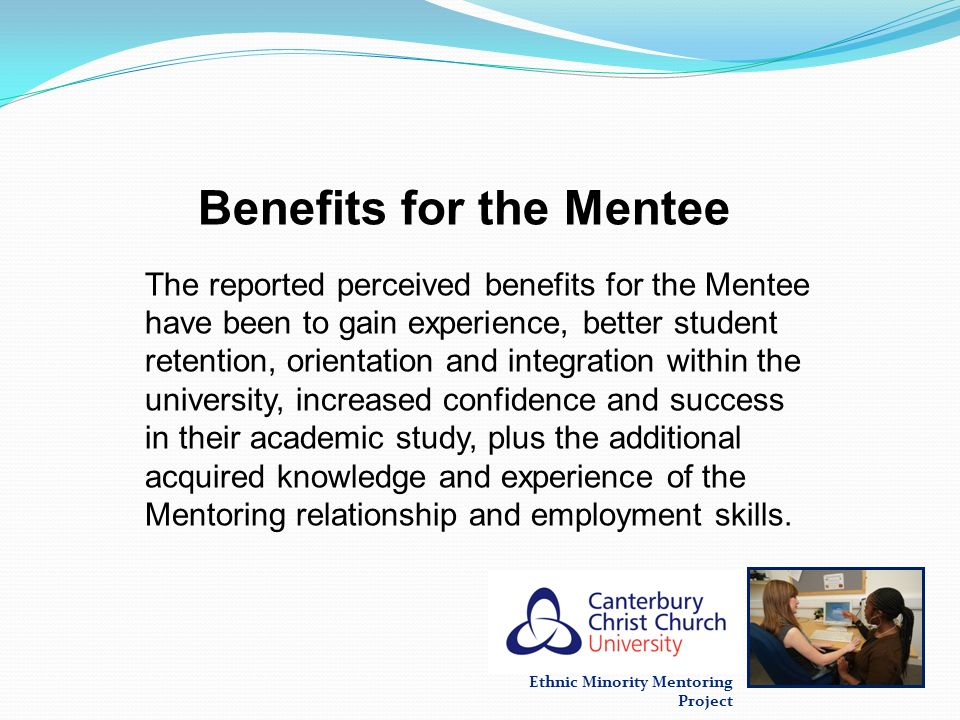 Benefits for the Mentee