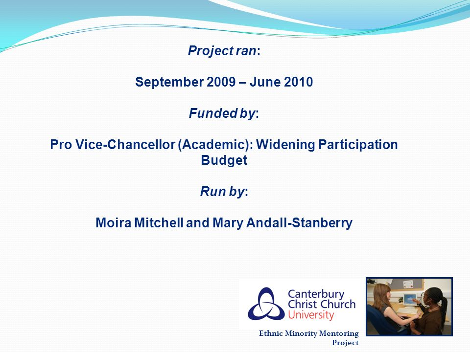 Pro Vice-Chancellor (Academic): Widening Participation Budget