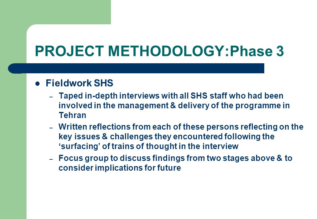 PROJECT METHODOLOGY:Phase 3
