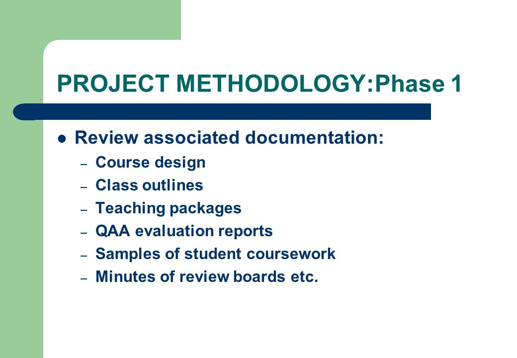 PROJECT METHODOLOGY:Phase 1
