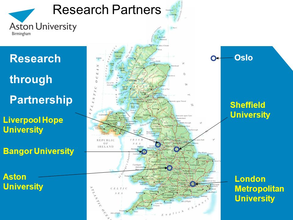 Research Partners Research through Partnership Oslo Sheffield