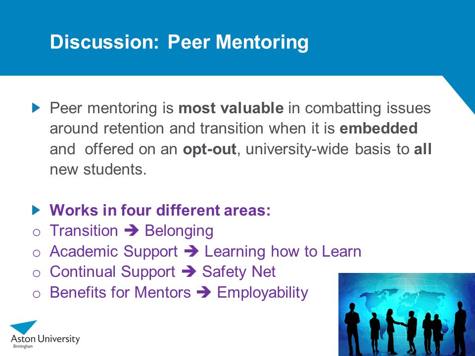 Discussion: Peer Mentoring