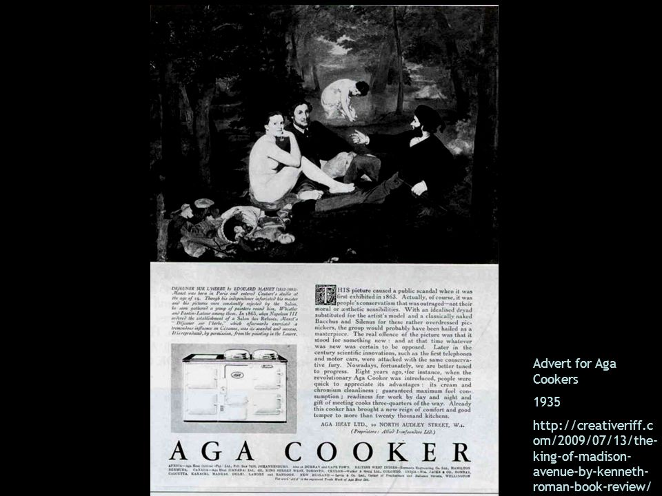 Advert for Aga Cookers 1935.