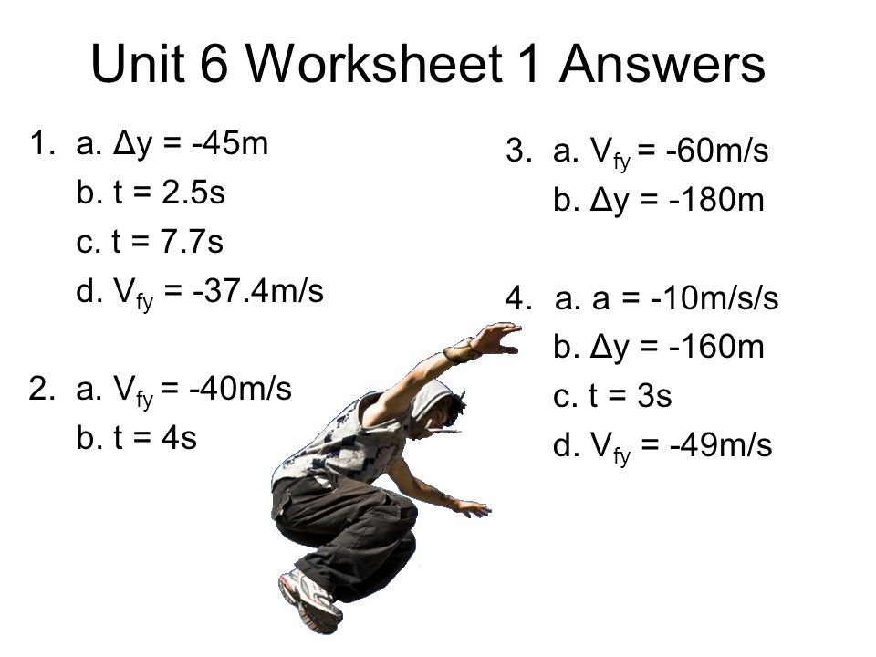 Unit Vi Worksheet 2 Projectile Motion Problems Answers Kidz Activities