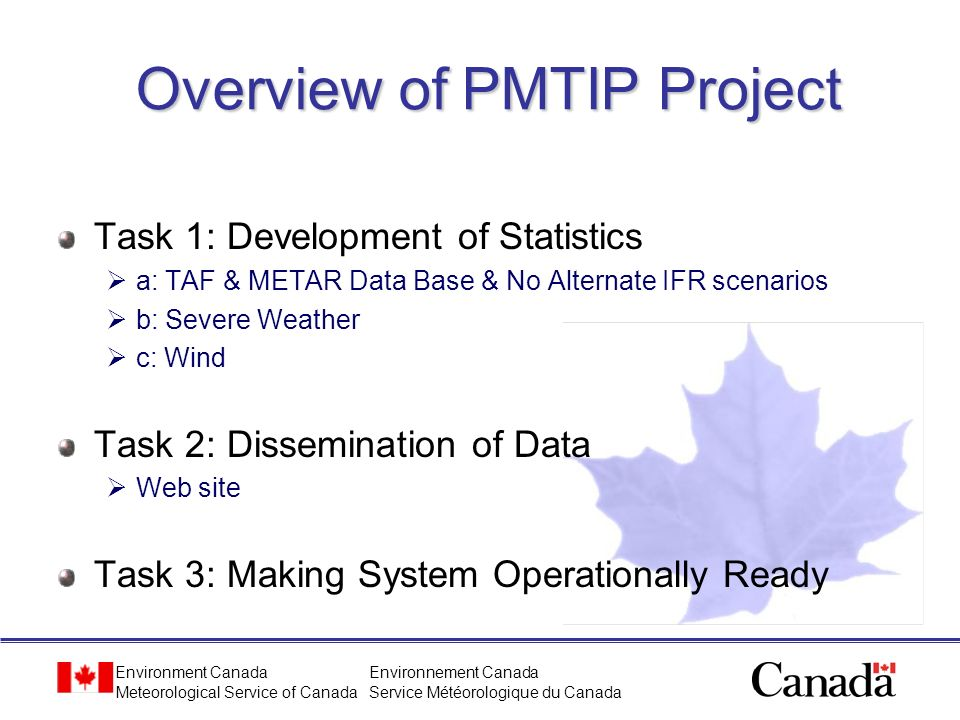 Overview of PMTIP Project