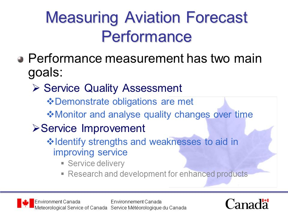 Measuring Aviation Forecast Performance