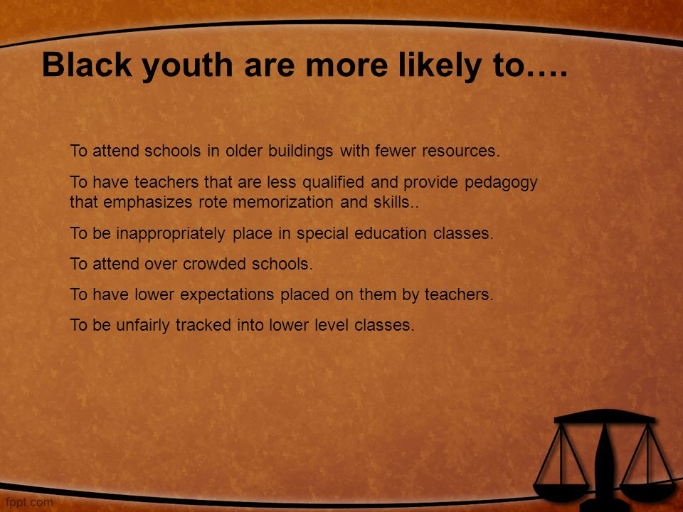Teachers Lower Expectations For Black >> School To Prison Pipeline Ppt Download