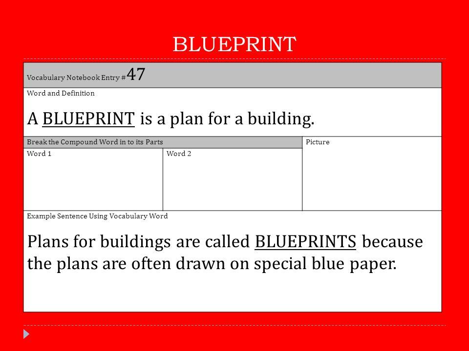 5th grade reading quarter 1 vocabulary ppt video online download 51 blueprint malvernweather Images