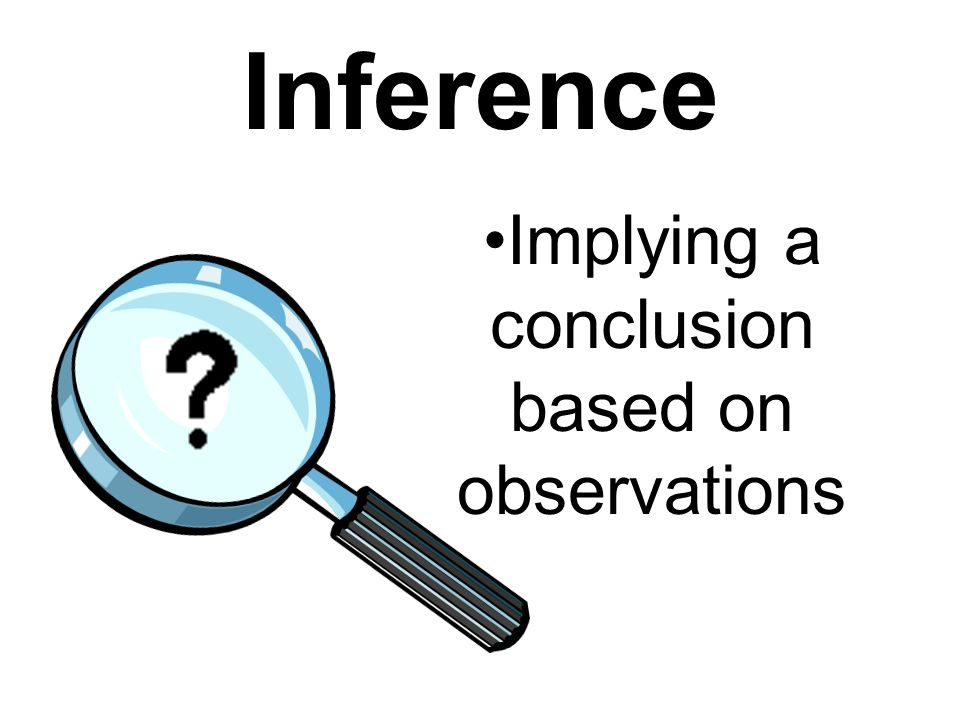 Implying a conclusion based on observations