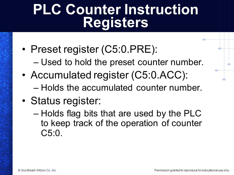 PLC Counter Instructions - ppt video online download