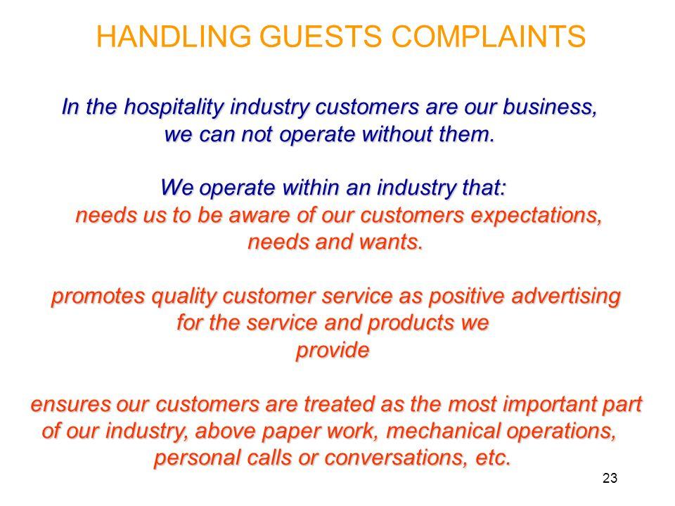 HANDLING GUESTS COMPLAINTS - ppt video online download