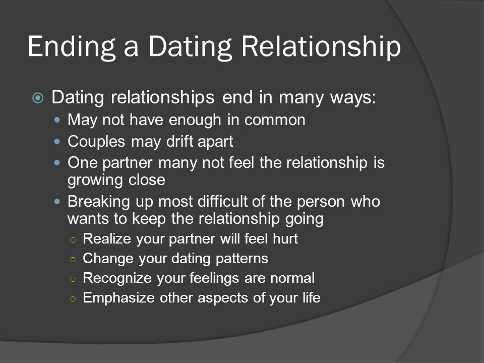 How to know when to end a dating relationship
