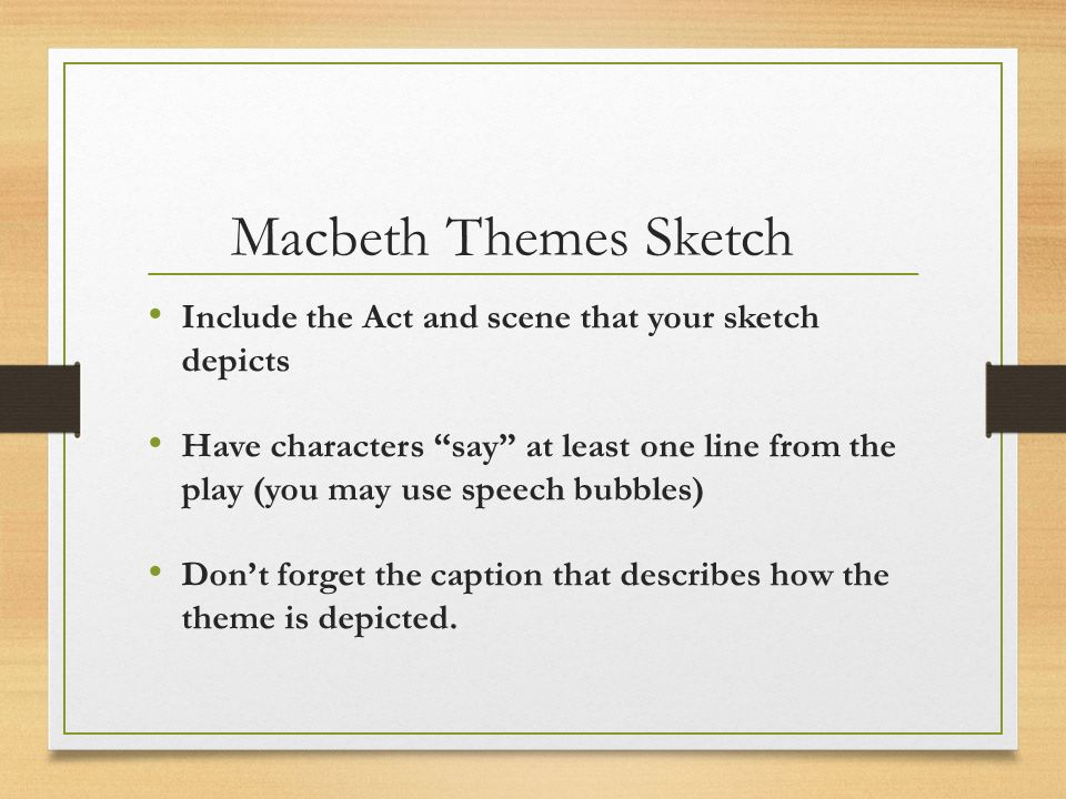 what is the theme of macbeth