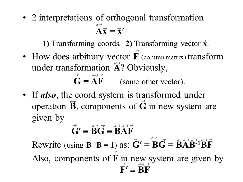 Sect  4 2: Orthogonal Transformations - ppt download