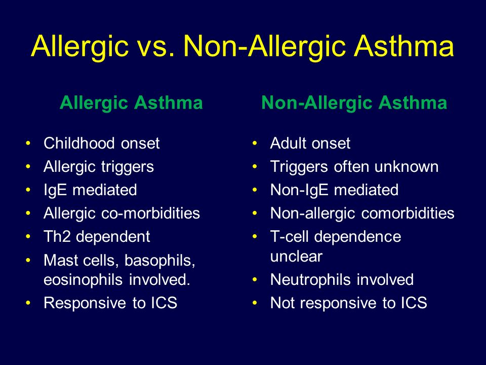 Allergic Vs Non Allergic Asthma Ppt Download