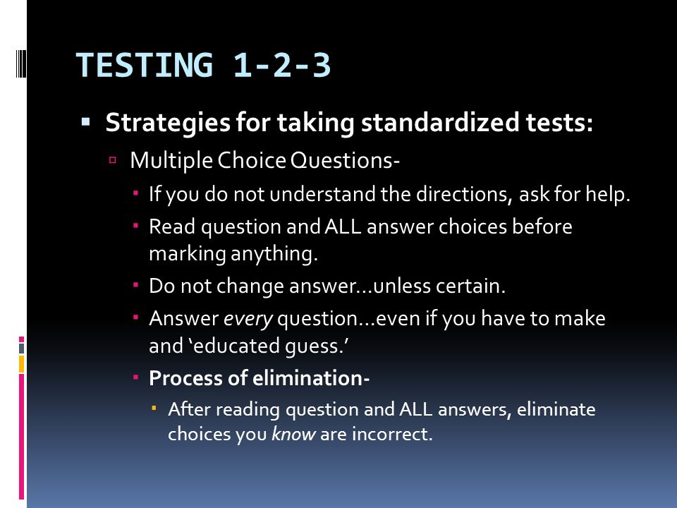 why should standardized testing be eliminated
