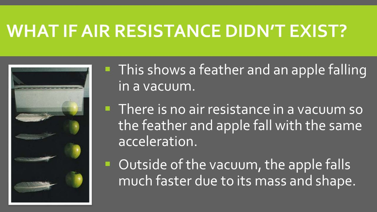 What if air resistance didn't exist