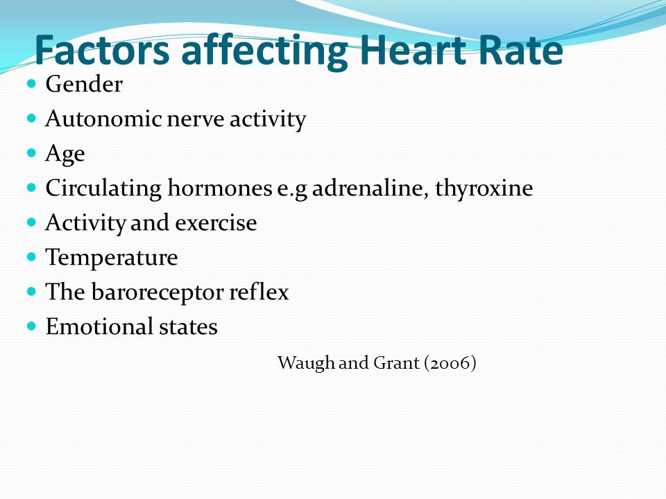 factors that can affect heart rate