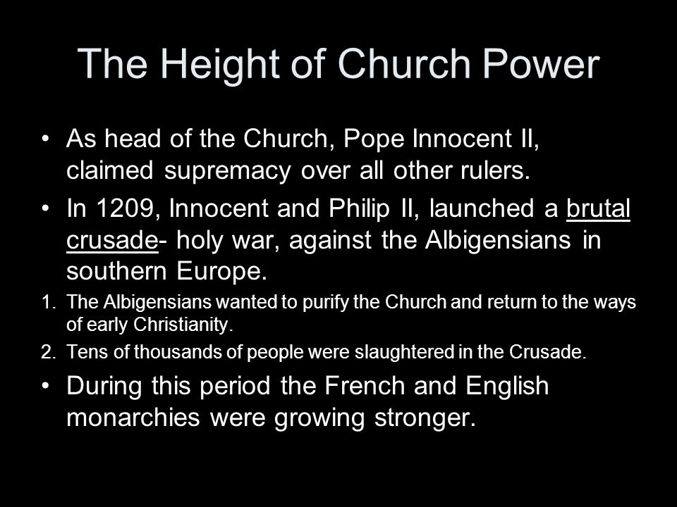 The Height of Church Power